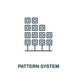 pattern system outline icon thin line style from vector image vector image