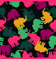 pattern with multicolored elephants vector image vector image