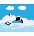 person on a cloud vector image vector image