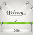 Photorealistic bright stage with projectors vector image vector image
