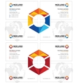 prism business card light vector image