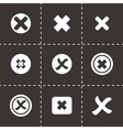 rejected icon set vector image