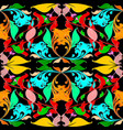 russian floral colorful seamless pattern bright vector image
