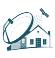 satellite dish on the house vector image vector image
