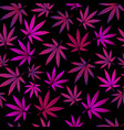 seamless pattern with purple marijuana vector image