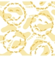 Seamless smileys and footprints vector image