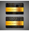 set of discount cards vector image vector image