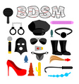 Sex icons for BDSM Sextoys for xxx Knut and gag vector image vector image