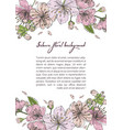 spring background with blooming sakura flowers vector image vector image