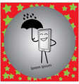 telephone holding an umbrella vector image
