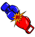 versus boxing gloves on white background design vector image vector image