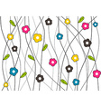 Vibrant colored floral background vector image vector image