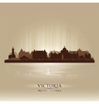 Victoria British Columbia skyline city silhouette vector image vector image