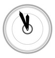 wall clock icon vector image