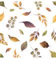 watercolor autumn seamless pattern with vector image vector image