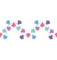 wavy colorful decorative tassels set vector image vector image