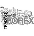 why a dummy account is the forex traders best vector image vector image