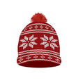 winter hat vector image