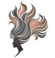 women silhouette icon on white vector image vector image