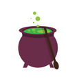 isolated witch cauldron vector image