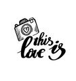 this is love calligraphy postcard poster vector image