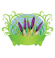 Spring crocuses with ribbon vector image