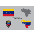Map of Venezuela and symbol vector image