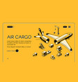 air cargo logistics isometric halftone vector image vector image
