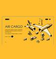 air cargo logistics isometric halftone