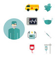 ambulance icons medicine health emergency vector image vector image