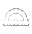 Angle meter ruler vector image