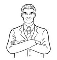 angry serious boss businessman coloring vector image