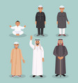 arabic men generations from kid to old person vector image vector image