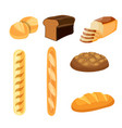 bakery shop icons vector image