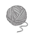 ball yarn in boho style vector image