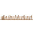 beautiful brown wooden fence wooden fence vector image