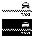 black and white business card taxi vector image vector image