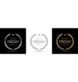 black friday label set vector image