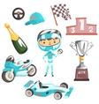 Boy Speed Racer Kids Future Dream Professional vector image