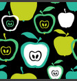 brush grunge apple seamless pattern vector image vector image