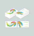 business card template 6 vector image vector image