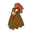 cartoon hen bird farm domestic animal vector image vector image