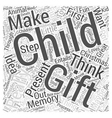 christmas gift idea for a child Word Cloud Concept vector image vector image