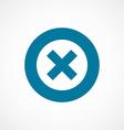 close bold blue border circle icon vector image vector image