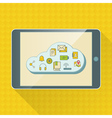 Cloud computing service infographics with icons vector image vector image