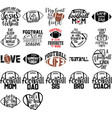 collection football phrases slogans or quotes vector image