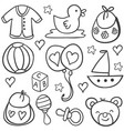 collection stock of baby object doodles vector image