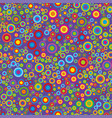 colorful psychedelic circles on a violet vector image vector image