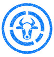 cow diagram rounded grainy icon vector image vector image