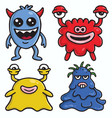 cute monster character designs set colorful vector image